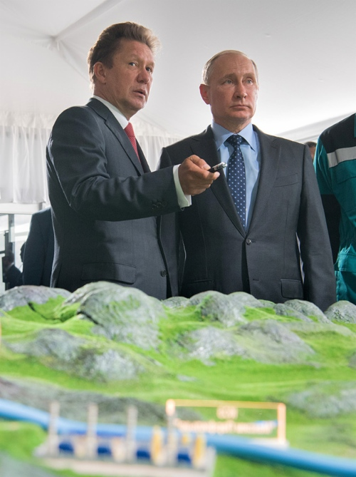 Alexey Miller, CEO Gazprom, si Vladimir Putin, presedintele Rusiei - sursa foto: Gazprom