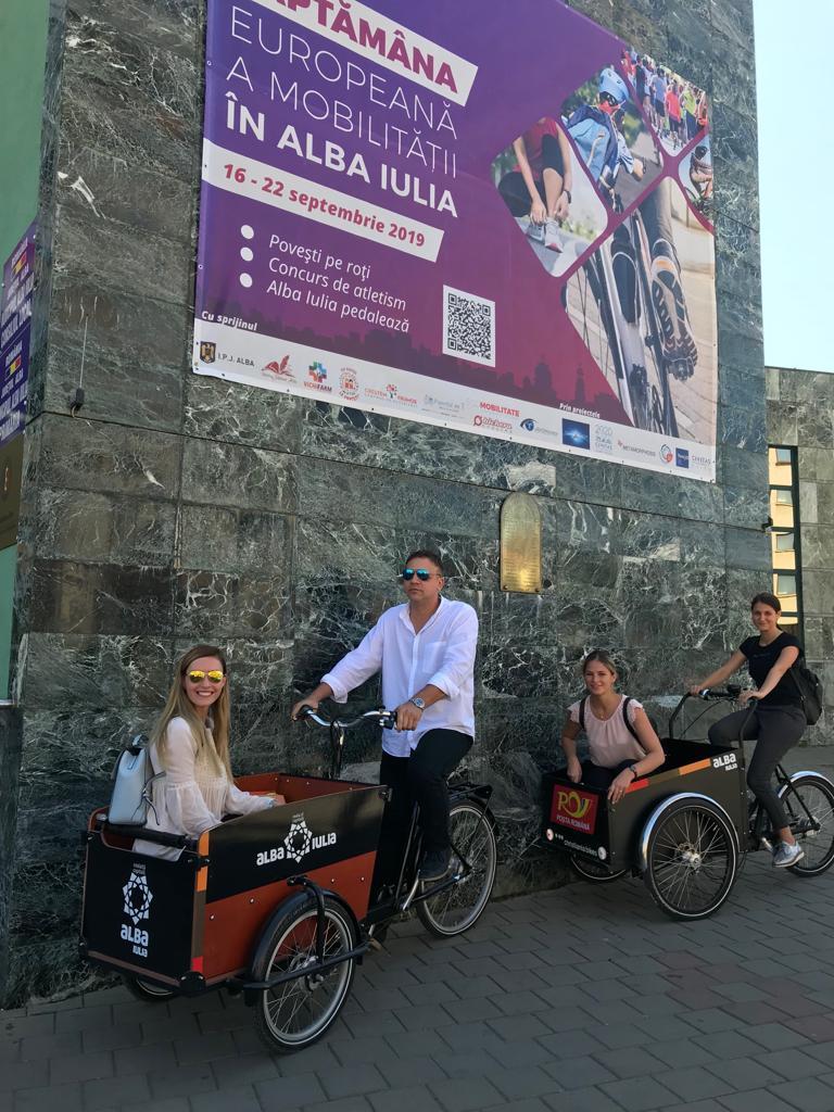 Saptamana europeana a mobilitatii Alba Iulia - sursa: Facebook, primarie